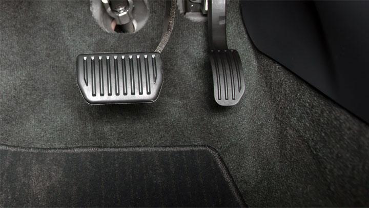 brake pedal to floor