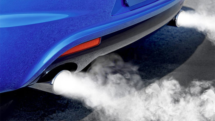 car blowing white smoke from exhaust