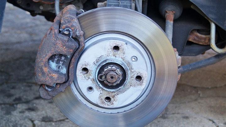 stuck brake caliper