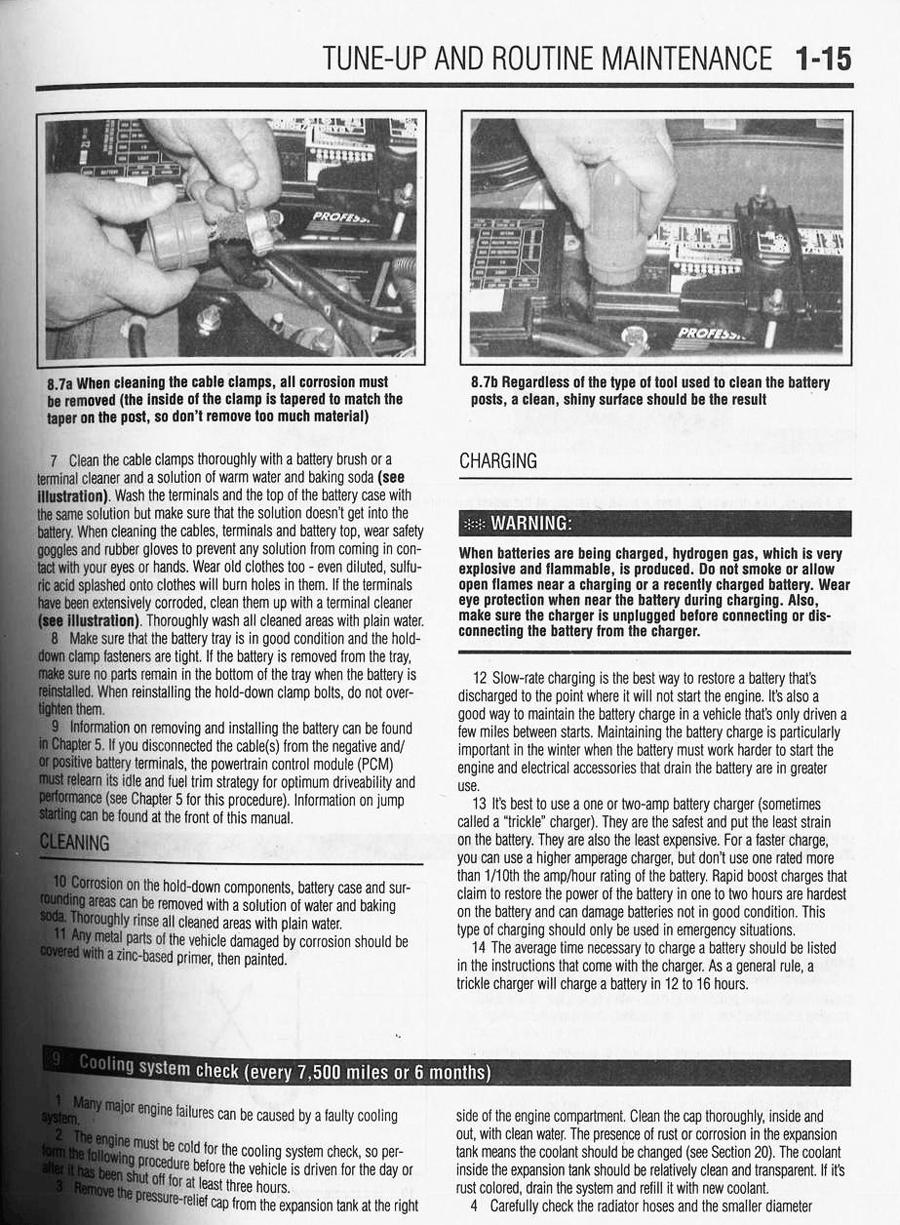 Chilton manual sample page