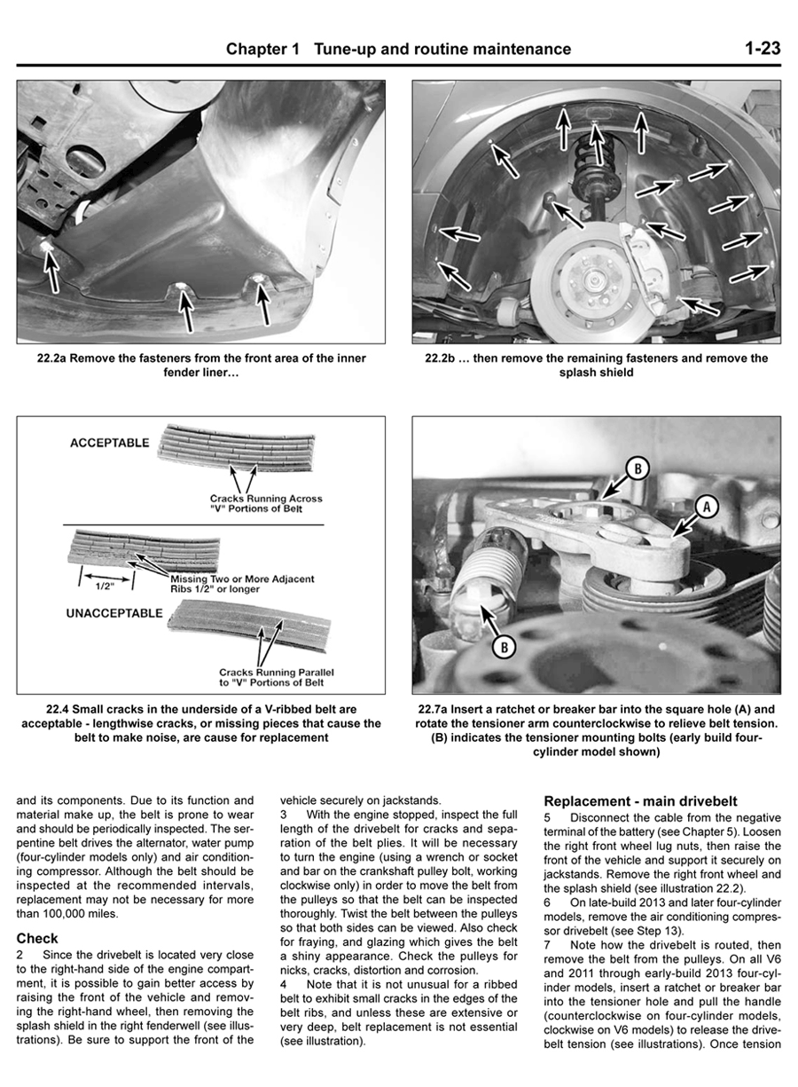 Haynes manual sample page