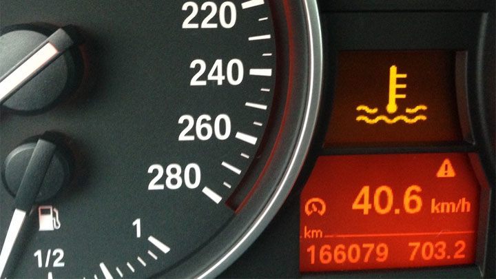 coolant temperature warning light