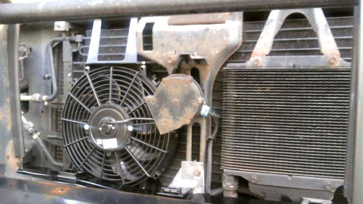faulty A/C condenser fan