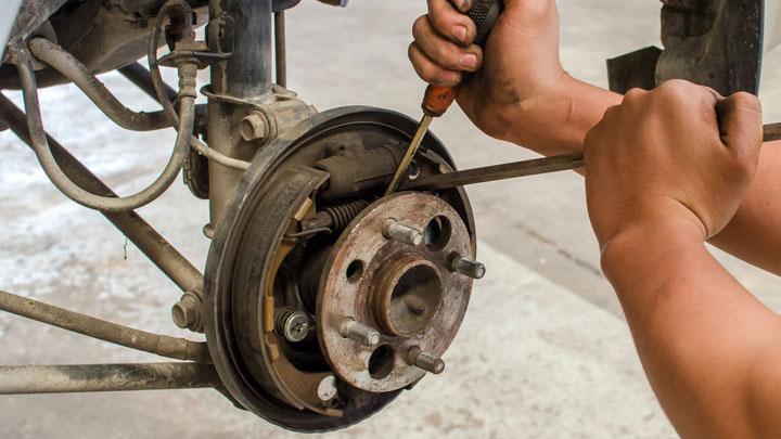 brake shoe replacement