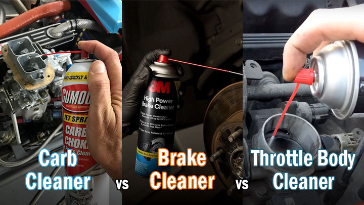 carb cleaner vs brake cleaner vs throttle body cleaner