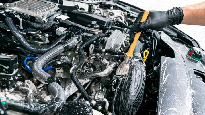 clean engine bay