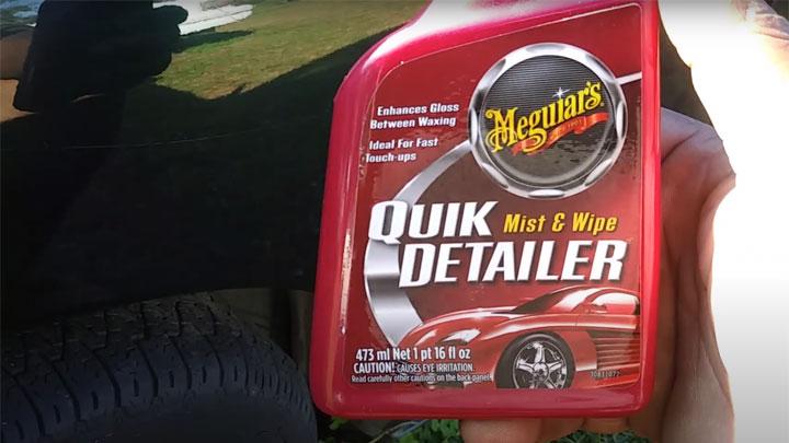 detailer spray to remove bird droppings