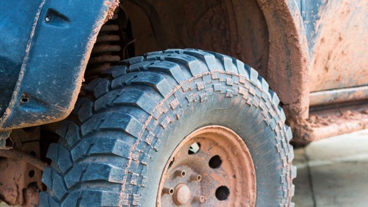 dirty wheel well