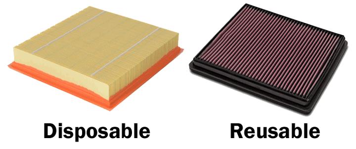 disposable vs reusable air filter
