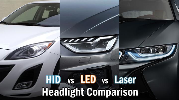 HID vs LED vs Laser headlights