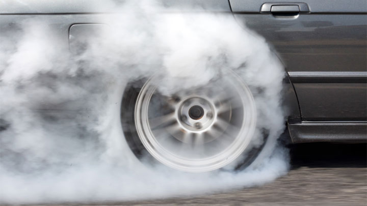 how to do a burnout in an automatic