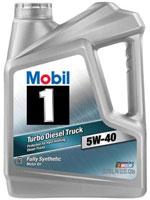 Mobil 1 turbo diesel truck motor oil