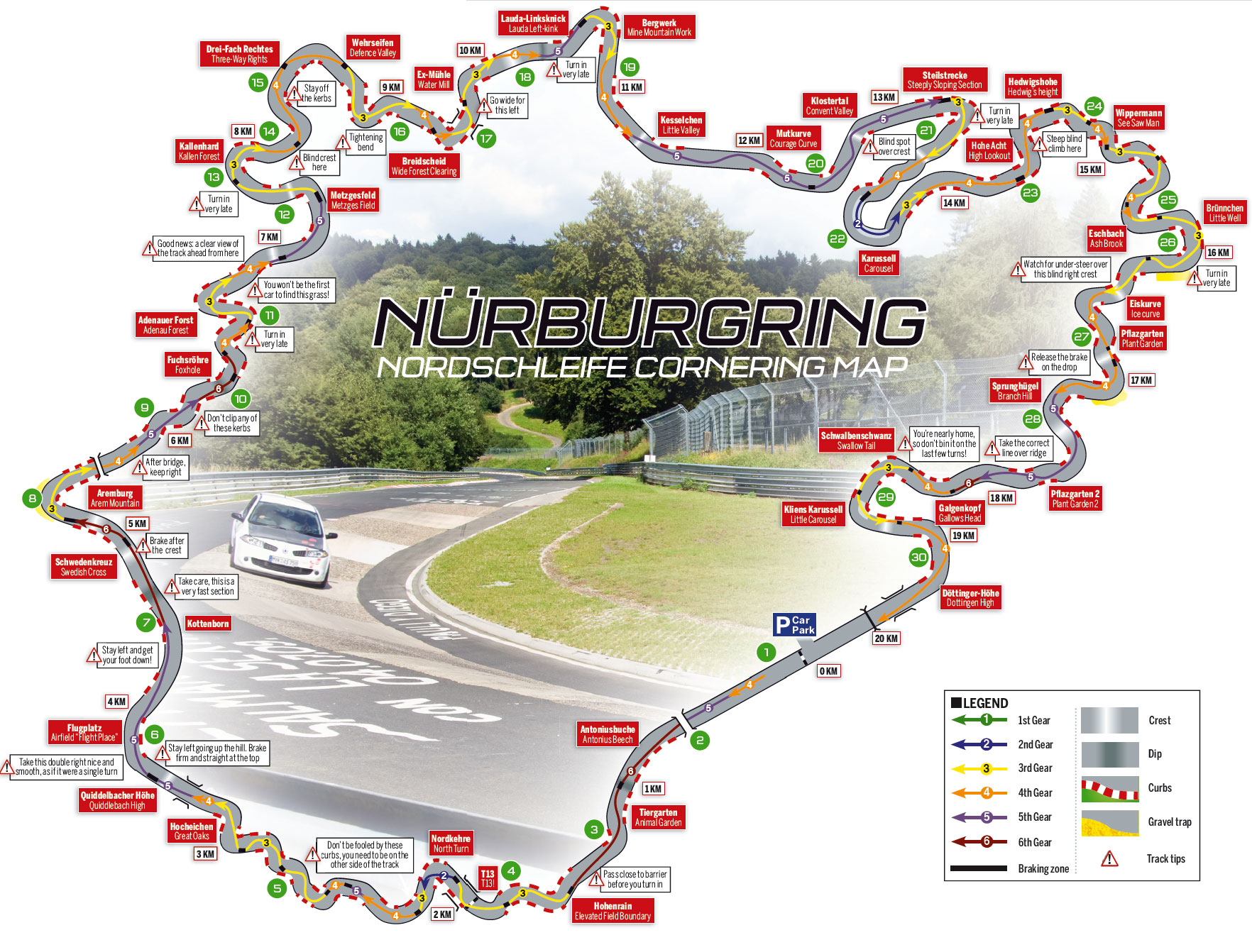 Lamp Nürburgring total distance with official Nürburgring lettering layout 2
