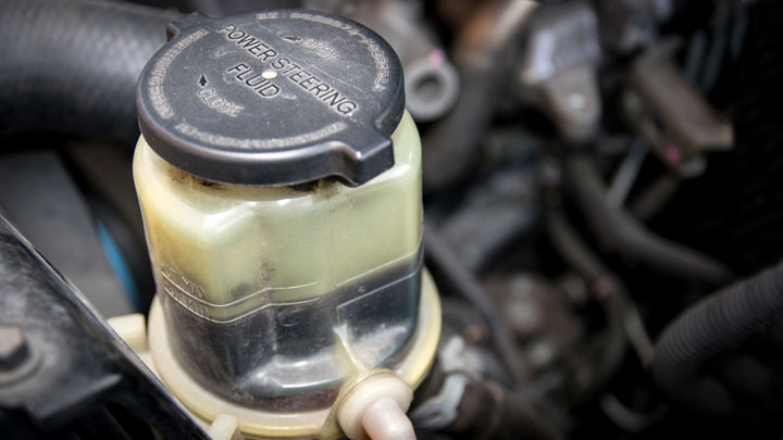old power steering fluid