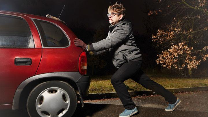 push jump start a car