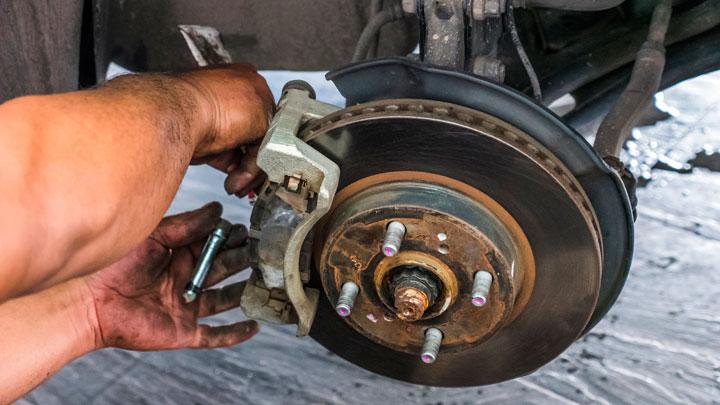 remove brake caliper