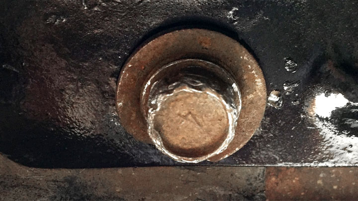 rounded off drain plug
