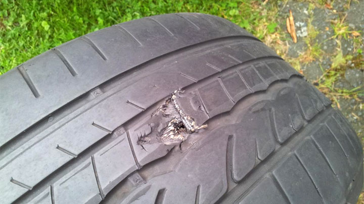 run flat tire puncture