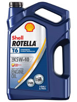 Shell Rotella T6 synthetic oil