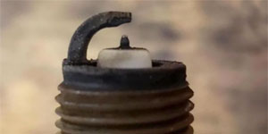side electrode worn spark plug