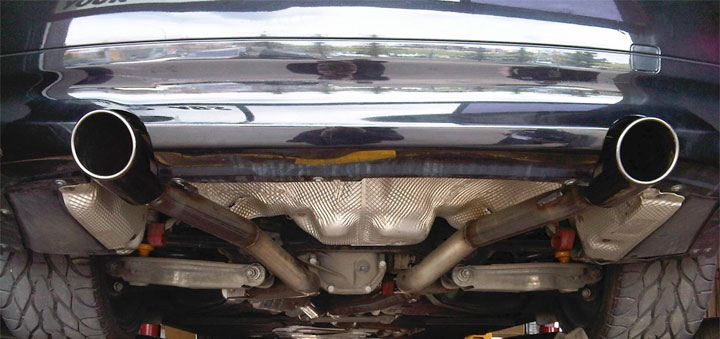 straight pipe exhaust kit