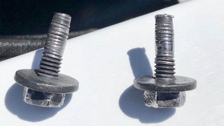 stripped bolt