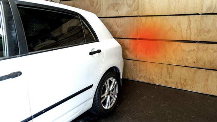 test brake lights in garage