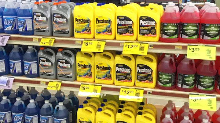 types of antifreeze