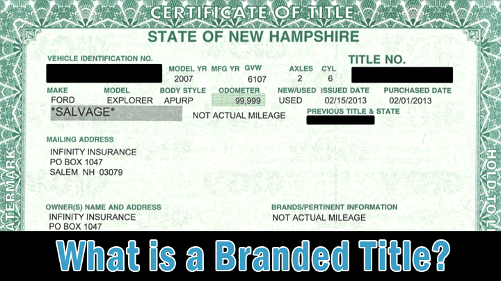 What is a Branded Title? (6 Types of Title Brands)